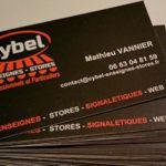 Cybel Enseignes Stores - Carte de visite